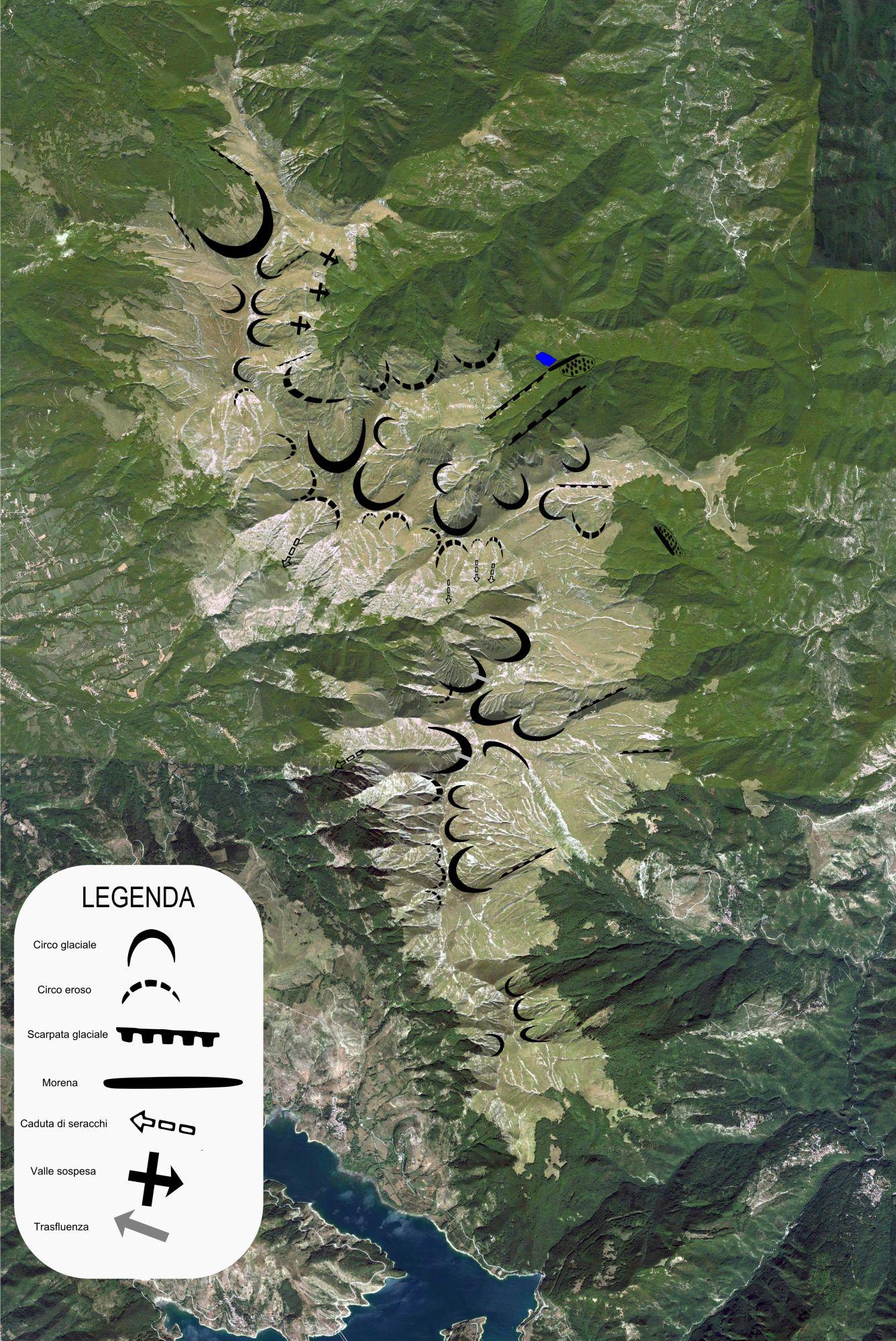 Tracce glaciali dei Monti deella Laga